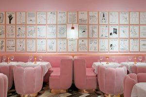 Sketch pink room
